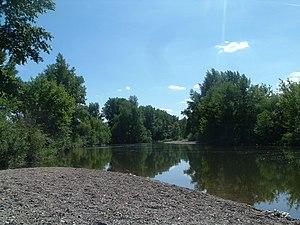 Aktobe - The Kargala River flows into the Ilek River on the outskirts of Aktobe