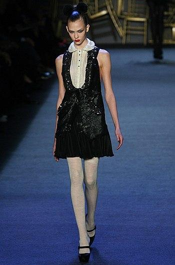 , American fashion model, in Zac Posen
