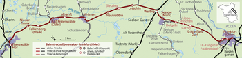 Section of the Eberswalde – Frankfurt (Oder) railway line