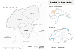 Map of the district of Schleitheim