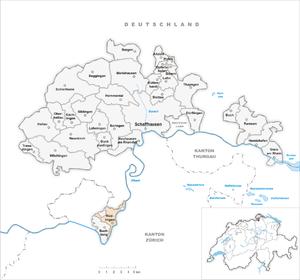 Rüdlingen - Image: Karte Gemeinde Rüdlingen 2007