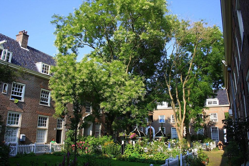Karthuizerhof, cour et jardin dans le Jordaan à Amsterdam - Photo de Eibert Draisma