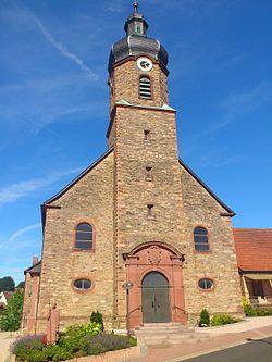 Katholische Filialkirche St Kilian und St Bonifatius Kleinblankenbach.JPG
