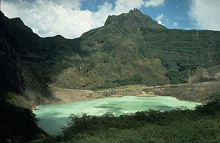 volcano on Java island, Indonesia