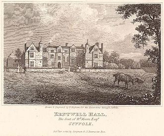 Kentwell Hall - Kentwell Hall in 1818 by landscape engraver Thomas Higham, during Richard Moore's occupancy
