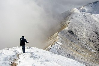 New Zealand Great Walks - An alpine section of the Kepler Track after snowfall