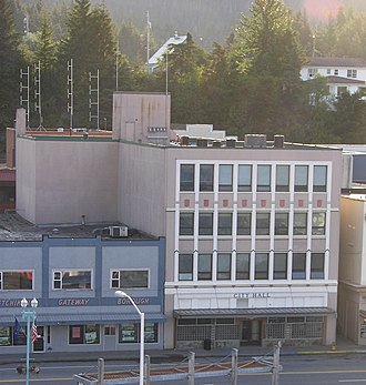 Ketchikan Gateway Borough, Alaska - Headquarters of Ketchikan's city government (right) and former headquarters of the borough government (left)