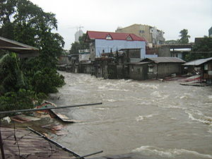 Typhoon Ketsana - Metro Manila experienced the highest rainfall in history, which brought heavy flooding.