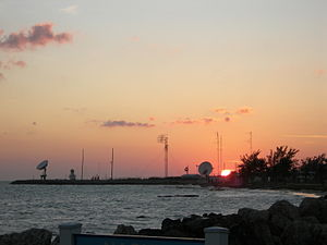 Key West (Southernmost Point) at sunset, 2007