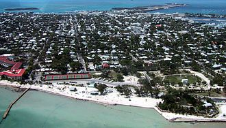 Key West - Aerial photo of Key West, looking north, April 2001