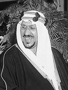 King Saud is smiling