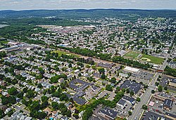 Aerial view of Kingston