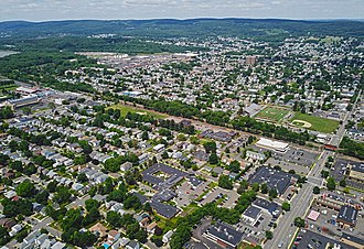 Kingston, Pennsylvania - Aerial view of Kingston