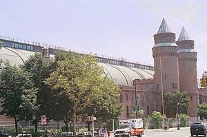 Kingsbridge Armory - partial south elevation, 2005