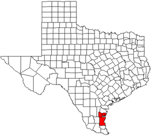 Kingsville, Texas micropolitan area - Map of Texas highlighting the Kingsville metropolitan area.