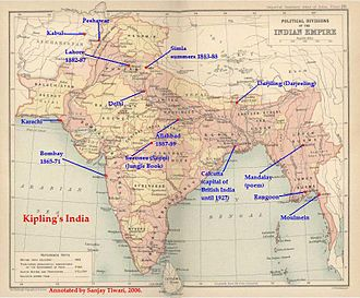 Rudyard Kipling - Kipling's India: a map of British India