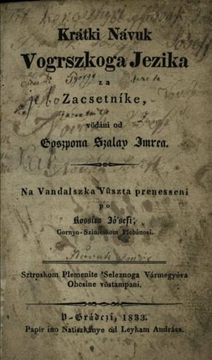 Prekmurje Slovene - Image: Kis magyar nyelvtan