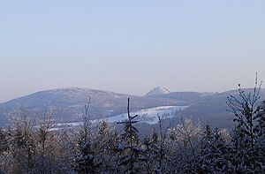 Lusatian Mountains - View of Klíč in winter