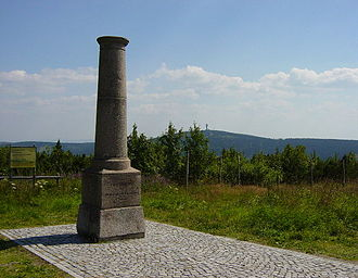 Fichtelberg - Historic trig point on the Fichtelberg, August 2004