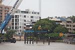 Kochi crane installing Sydney Street signage. (5727882849).jpg
