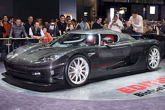 Koenigsegg CCX - CCXR Edition at the 2008 Geneva Motor Show.