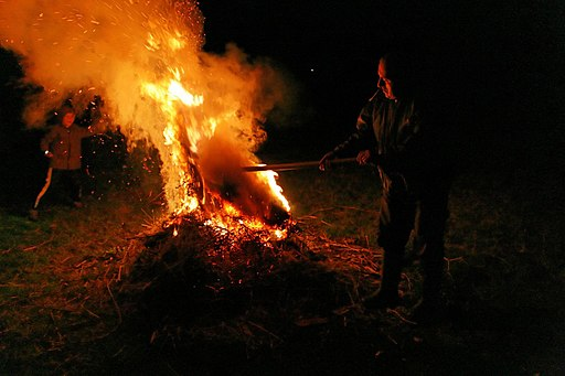 Bonfire in Macedonia
