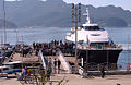 Korea-Heuksando-Passengers boarding ferry to Mokpo 11-02801.JPG