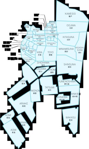 Kōtō - Image: Koto Tokyo Map