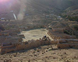 Ksar - View of Ksar Hallouf, Tunisia