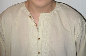 Chikan (embroidery) - Chikan embroidery on a cotton kurta
