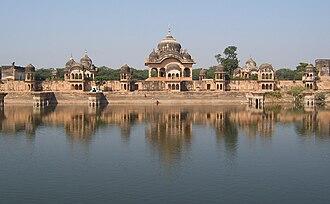 Mathura district - Kusuma Sarovar bathing ghat, in the Goverdhan area