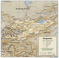Geography Of Kyrgyzstan Wikipedia - Kyrgyzstan map