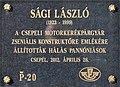 László Sági plaque Bp21 Károli Gáspár2.jpg