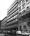 Lónyay (Szamuely) utca 42-44-46. sz. házak a Bakáts utca kereszteződésből fényképezve Fortepan 17292.jpg