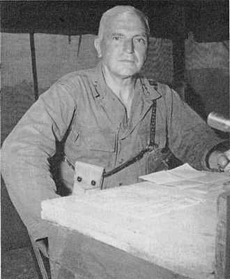 United States Military Government of the Ryukyu Islands - Image: LIEUTENANT GENERAL SIMON B. BUCKNER in Okinawa