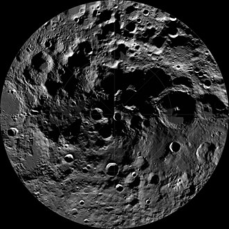 Topography of the Moon - Image: LRO WAC South Pole Mosaic