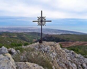 Garraf Massif - View from La Morella, the highest peak in the Garraf Massif.