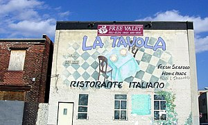 History of the Italians in Baltimore - La Tavola Ristorante Italiano, Little Italy, February 2006.