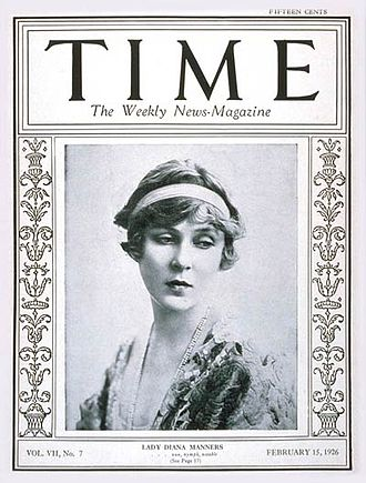 Bob cut - Lady Diana Cooper, Time Magazine (15 February 1926)
