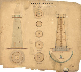 Lady Elliot Island Light - Lighthouse architectural plans, 1874
