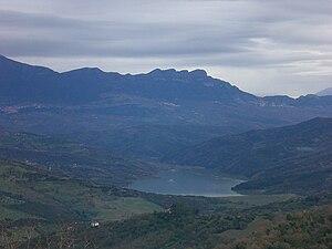 Alento (Campania) - Alento reservoir seen from Monteforte Cilento