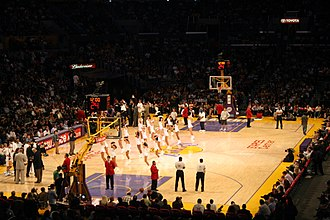 Sports in Los Angeles - The Staples Center in Los Angeles hosts the Los Angeles Lakers, Los Angeles Clippers, Los Angeles Kings, and Los Angeles Sparks.