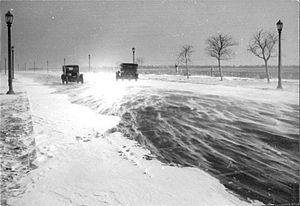 Lake Shore Boulevard - Lake Shore Boulevard during a snowstorm in 1925.