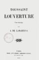 Lamartine - Toussaint Louverture, poème dramatique, 1850.png