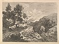 Landscape with a Figure Herding Cattle Along a Road Beside a Cottage, a Hillside at Left, a Forest in the Valley Below at Right MET DP823307.jpg