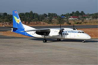 Xian MA60 - Lao Airlines Xian MA60 at Pakse Airport in 2009.