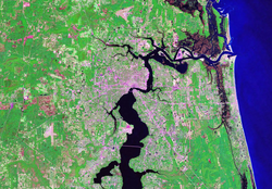 Satellite image of Greater Jacksonville