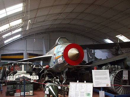 XG329 P1B/Lightning at the Norfolk & Suffolk Aviation Museum - English Electric Lightning