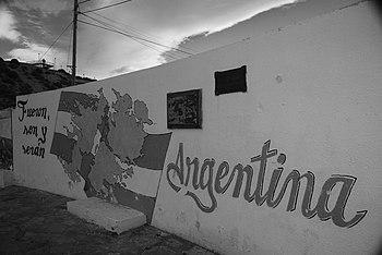 Las Malvinas son argentinas Los Antiguos%2C Santa Cruz %28Argentina%29 2008-10-21