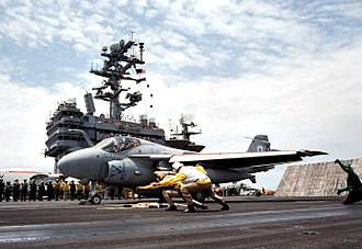 VFA-34 - Image: Last VA 34 A 6E Intruder launch from USS George Washington (CVN 73) on 22 July 1996 (6526829)